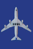 aircraft on blue poster
