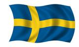 Fototapety schweden sweden fahne flag