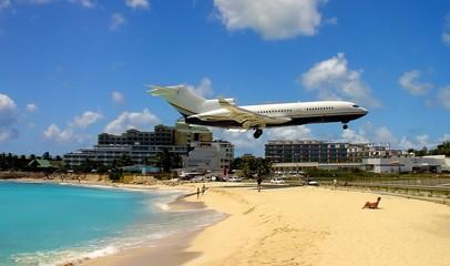 landing over the beach