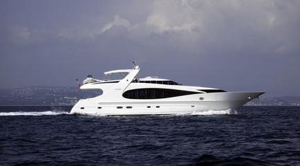 fast modern yacht