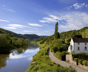 river wye the wye valley gloucestershire monmouths