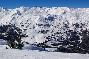 alpes winter landscape