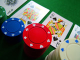poker chips and cards poster