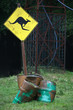 känguru-warnschild