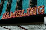 gambling neon sign poster