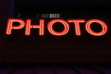 photo neon lights poster