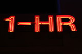 1-hour neon sign poster