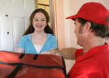 receiving pizza delivery poster