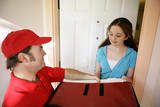 pizza delivery at home poster