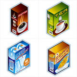 symbols 34b. grocery icons poster