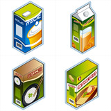 symbols 34a. grocery icons poster