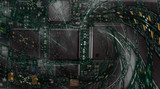 circuit board - fractal background poster