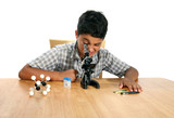 microscope boy poster