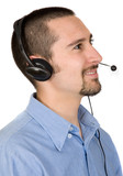 business customer service guy poster