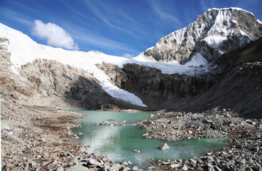 lake in the cordilleras mountain