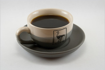 cup of hot strong coffee