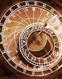 astronomical clock in prague, czech republic poster