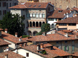 mediterranean historic town centre poster