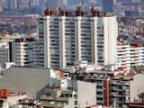 modern residential concrete blocks poster
