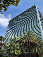 modern office highrise building