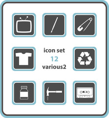vector icon set 12: various2