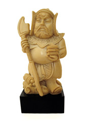 chinese warrior figure in ivory