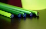 five green pencils poster