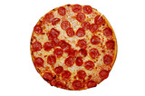 whole pepperoni pizza poster
