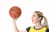 girl shooting hoops poster