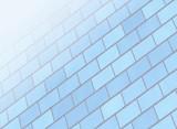blue soft brick wall poster