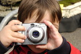 boy taking a picture