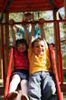 children on a slide