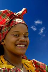 jeune femme des îles