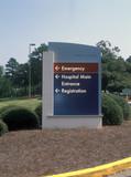 hospital entrance sign poster