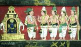 india, south-india: madurai, sri meenakshi temple poster