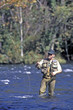 fly fisherman, hiwassee river, tennessee