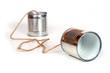 Leinwanddruck Bild - can telephones