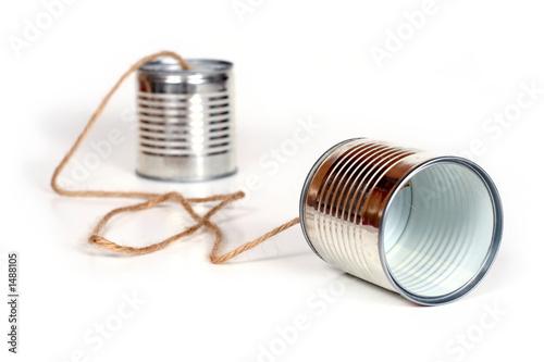 Leinwanddruck Bild can telephones