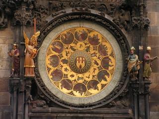 down part of famous czech clock