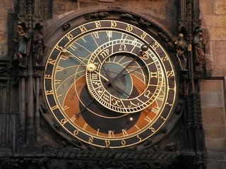 upper part of famous czech clock