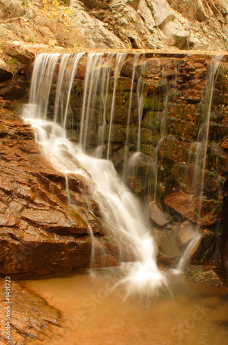 smooth water flowing over ledge poster
