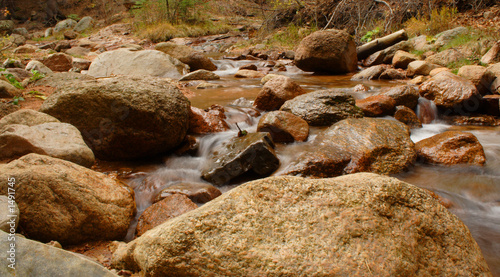 water flowing over rocks