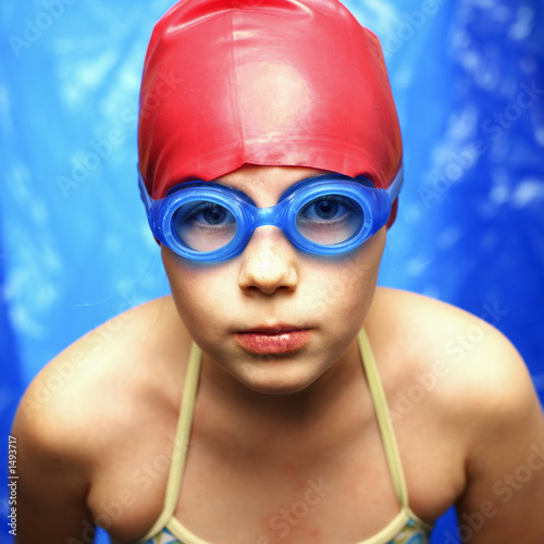 girl in a swimming pool