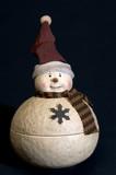 ceramic snow man poster