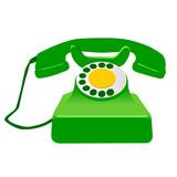 retro telephone poster