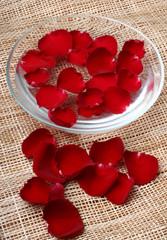 rose petals ina bowl