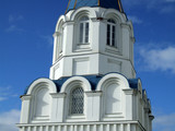 orthodox church tower in russia poster