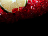 pomegranate seeds & lime poster