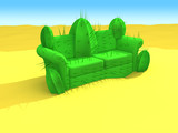 cactus-sofa in the desert