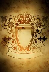 emblem with flowers(special warm f/x )